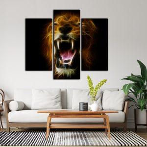 Lion Split Canvas