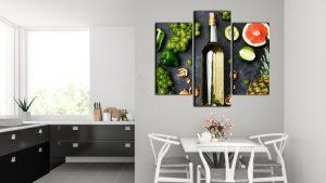 Wine Split Canvas